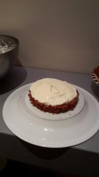 Répartir la ganache sur les gâteaux